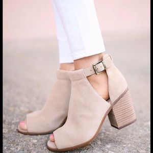 Sole society Ferris taupe booties